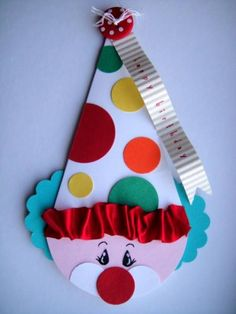 by odden designs - Cards and Paper Crafts at Splitcoaststampers Clown Crafts, Circus Crafts, Carnival Crafts, Circus Carnival Party, 3d Paper Crafts, Diy And Crafts, Crafts For Kids, Paper Airplane Game, Board Decoration