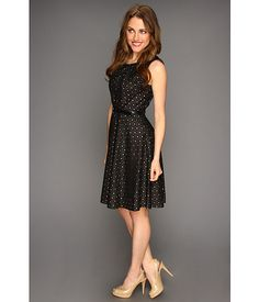 Vince Camuto Sleeveless Pleat Neck Lace Dress Black - Zappos.com Free Shipping BOTH Ways