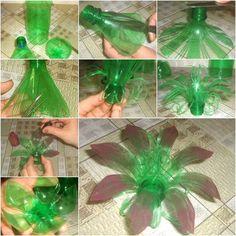 Creative DIY Plastic Bottle Flower on imgfave