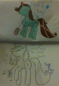 """Here's a 'before and after' of my """"Price Tag"""" pony!! :D"""