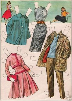 'IT'S A DATE' PAPER DOLLS 1956.I Got This From Ebay - MaryAnn - Álbumes web de Picasa
