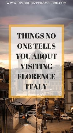 Things no one tell you about visiting Florence, Italy. Our Florence insider guide will tell you everything you need to know about the city. While there I learned a few things not only from my own experience, but from those who live there as well, So we teamed up with a local to put together a guide on things no one tell you about Florence. Click to read more. #Italy #Florence #Guide #Travel