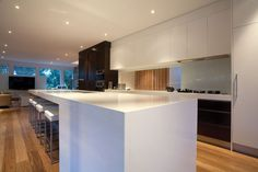 kitchen - like the mix of white and dark brown