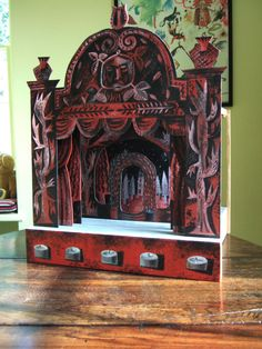 Toy Theatre made by Clive Hick-Jenkins at Ty Isaf, the home of the artist