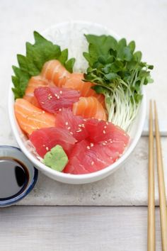 Sashimi. Though I am French... I love Japanese food.