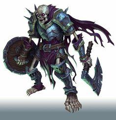Skeleton Undead Fighter Warrior - Pathfinder PFRPG DND D&D d20 fantasy