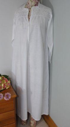 Lange Jahrgang Nachthemd oder Nachthemd Nacht Hemd weiß weiche