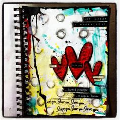 Art Journal Love the Bright Bold Colors!