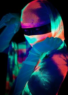 """Part of my Black Light series """"Under One Light"""". Shot exclusively with UV lighting, with minimal post processing."""