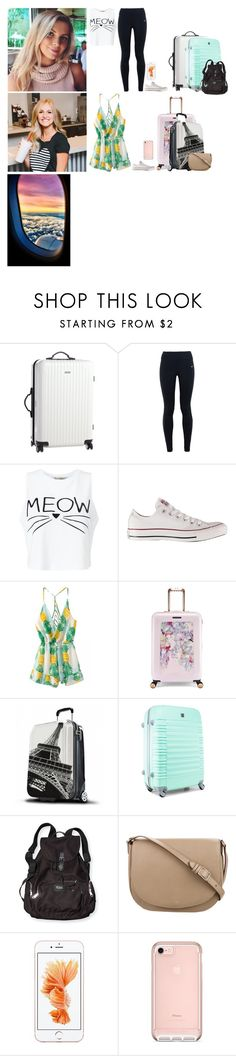 """""""And we're off"""" by cleo-scott ❤ liked on Polyvore featuring NIKE, Miss Selfridge, Converse, Ted Baker and CÉLINE"""