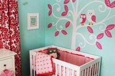 Corujinhas no quarto de bebê