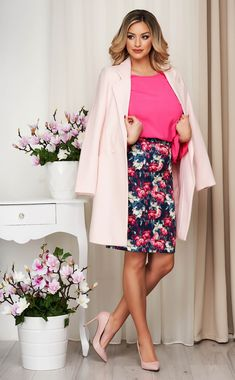 Tinuta office de primavara Women's Fashion, My Style, Floral, Skirts, Fashion Women, Womens Fashion, Flowers, Skirt