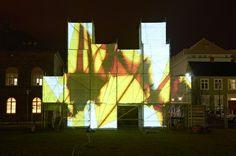 Scaffolding - Andamios // Pixel Cloud Installation // Arte y Publicidad // Urban Scaffolding