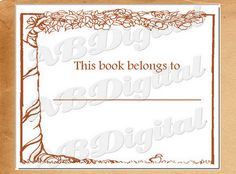 Bookplate Apple Tree Ex Libris Library Books Gift by ABDigital, $2.75