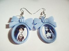 Corpse Bride Emily and Victor Earrings by kreepshowkouture on Etsy, $12.99