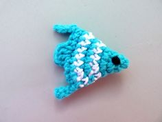Crocheted Applique – crochet fish 3D –Crochet Ganchillo Uncinetto Hälken  Fish Sea