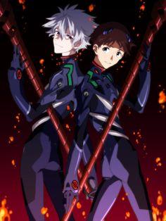 Neon Genesis Evangelion Shinji Ikari Kaworu Nagisa