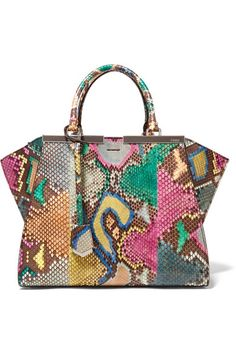 fd84719361bc FENDI 3Jours Medium Python And Leather Tote.  fendi  bags  leather  hand