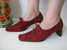 Vintage suede shoes by DanielaDavid on Etsy,