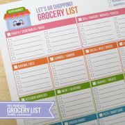 {Free Printable} Let's Go Shopping! Grocery List. Whole lot of lovely free printables on this page.