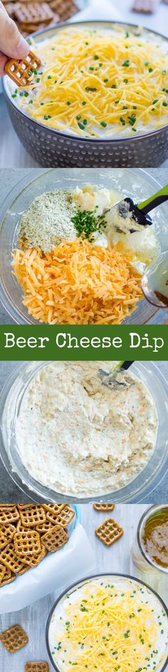 This creamy, addictive Beer Cheese Dip belongs on your party menu! It makes a hu… This creamy, addictive Beer Cheese Dip belongs on your party menu! It makes a huge batch so there's plenty to go around, and it's easy too! Cheese Dip Recipes, Appetizer Recipes, Snack Recipes, Appetizers, Cooking Recipes, Milk Recipes, Cooking Tips, Easy Recipes, Beer Cheese