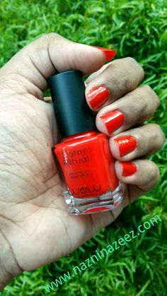 Wow by Wojooh's Color Ritual nail polish in shade Red Pride ♡