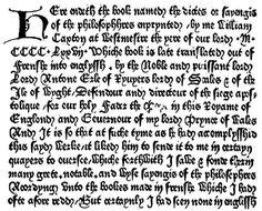 Caxton, first English printer