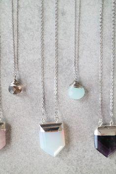 Pastel Stone Layering Necklaces