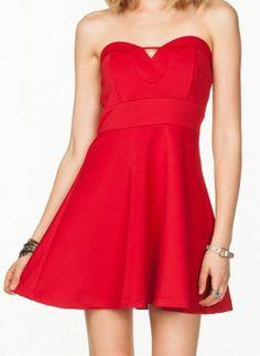 Red Lisette Flare Dress,  Dress, flare dress, Chic