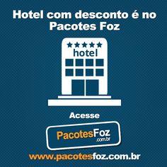O Pacotes Foz oferece diferentes opções de descontos para aproveitar da melhor maneira suas férias em Foz do Iguaçu. Para que você possa descansar e relaxar oferecemos hospedagem com desconto a partir de 30%. Faça seu cadastro em nosso site e hospede-se nos melhores hotéis da Terra das Cataratas gastando menos e aproveitando mais.  www.pacotesfoz.com.br