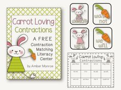 FREE Easter Themed Literacy Center (Contractions)
