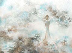 Penelope in malachite rapture... 80x60cm acrylic canvas