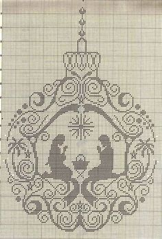 trace over pattern to get a line drawing for simple embroidery Cross Stitch Christmas Ornaments, Xmas Cross Stitch, Christmas Embroidery, Christmas Cross, Cross Stitch Charts, Cross Stitch Designs, Cross Stitching, Cross Stitch Embroidery, Embroidery Patterns