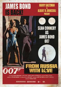 My version of the poster: From Russia With Love James Bond Movie Posters, James Bond Movies, Original Movie Posters, Lotte Lenya, Robert Shaw, Bond Girls, Sean Connery, The Incredibles, British