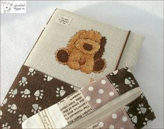 hand made notebook, cross stitching, pencil case