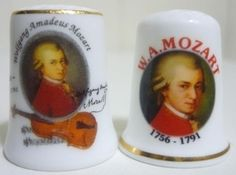 Wolfgang Amadeus Mozart 1756-1791 Vintage Sewing Notions, Snow Globes, Thimble, Austria, Sewing Kits, Composers, Music, Collections, Scissors