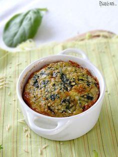 Petits flans de quinoa aux épinards on http://www.epicesetmoi.be