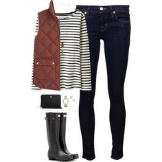 Rust & stripes by steffiestaffie on Polyvore featuring Joules, J.Crew, J Brand, Hunter, Kendra Scott, Marc by Marc Jacobs, Givenchy and Tory Burch