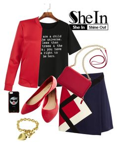 """""""SHE'S IN SHEIN"""" by beleev ❤ liked on Polyvore featuring WithChic, MSGM, TravelSmith, New Look, Kate Spade and Wet Seal"""
