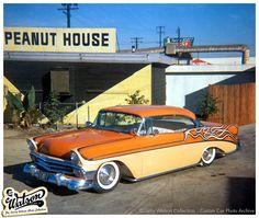 This fantastic mild customized 1956 Chevy custom belongs to Harvey Buthoff.