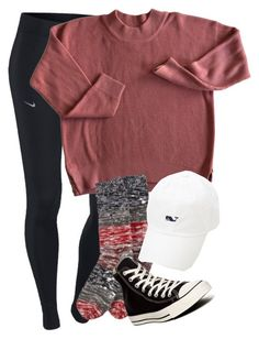 """""""IM MAY BE GETTIN A POLAROID CAMERA SOON. COMMENT WHAT COLOR I SHOULD GET IM THINKING LIGHT PINK"""" by elizabethannee ❤ liked on Polyvore featuring NIKE, Hue and Converse"""