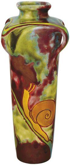 Zsolnay csigás váza