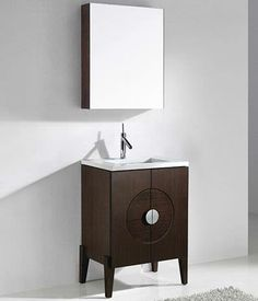Madeli Genova Vanity with Quartzstone Top from Madeli 24 Vanity, Bathroom Sink Vanity, Kitchen Fixtures, Bathroom Fixtures, Wood Stone, Branding Design, Hardware, Lighting, Top