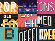 Random Lettering Collection on Behance