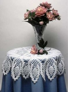 Pineapple Doily and Table Topper Crochet Pattern