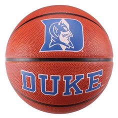 """NCAA Duke Blue Devils Deluxe Two-Tone Rubber Official Size Collegiate Design Basketball by Baden. $18.99. The Baden BRSKT two-tone deluxe rubber basketball has the look of leather ball with the durability for rugged outdoor play.  With wide, deep channels, this ball offers maximum grip and even bounce for a better game.  Great for all skill levels.  Show off your team spirit with Baden's collegiate licensed basketballs!  Official size, measuring 29.5""""."""