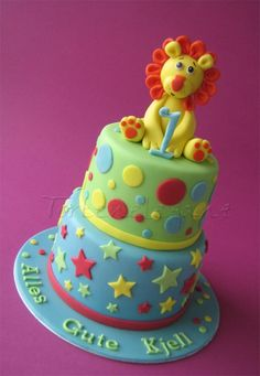 Lion for Kjell´s First Birthday By TortenEleganz on CakeCentral.com