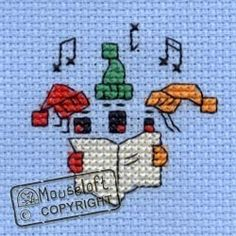 Stitchlets Christmas Card Cross Stitch Kit - Carol Singers