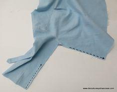 www.decosturasyotrascosas.com Bermuda Shorts, Sewing Patterns, Fashion, Tips, Shirt Collars, Dress Patterns, Blouses, Sleeves, Sewing Lessons