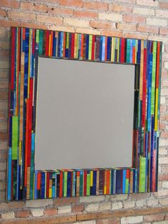 Love the way he did the colors and stain glass, truly an artist. Stained Glass Mirror, Mirror Mosaic, Mosaic Diy, Mosaic Crafts, Mosaic Projects, Mosaic Glass, Glass Art, Fused Glass, Mosaic Designs